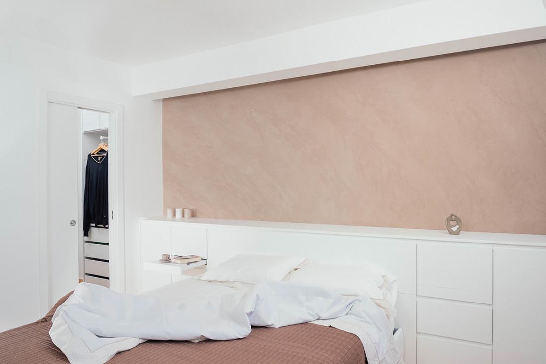 Casa_A+M. Camera da letto e cabina armadio. Falegnameria. design, architettura