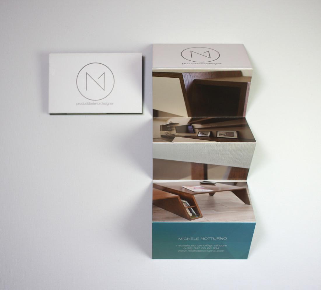 Brochure per MN design. Manauarino comunicazione. Stampa, layout, grafica