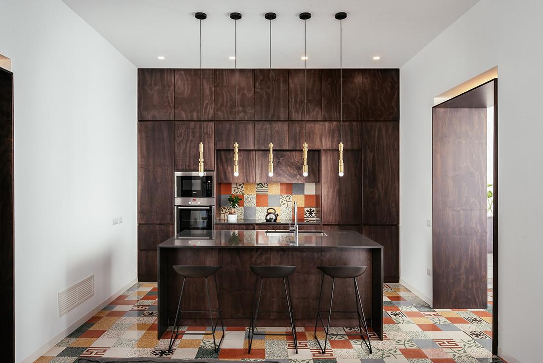 Area cucina con isola