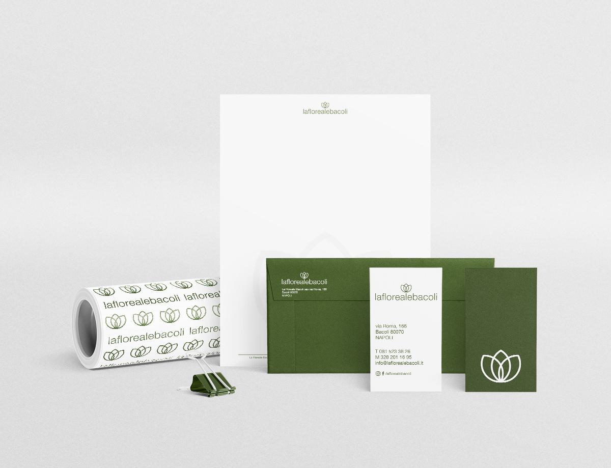 stationery. La floreale bacoli. Manuarino architettura, design, comunicazione