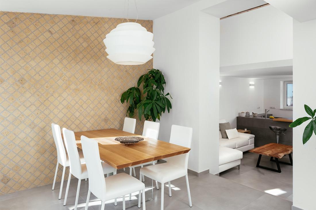 open space living, cucina e zona pranzo manuarino architetto Napoli